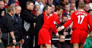 Steven Gerrard subbed