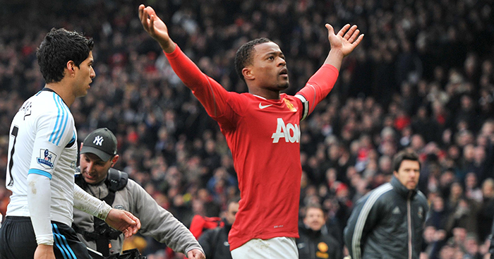 Patrice Evra celebrates