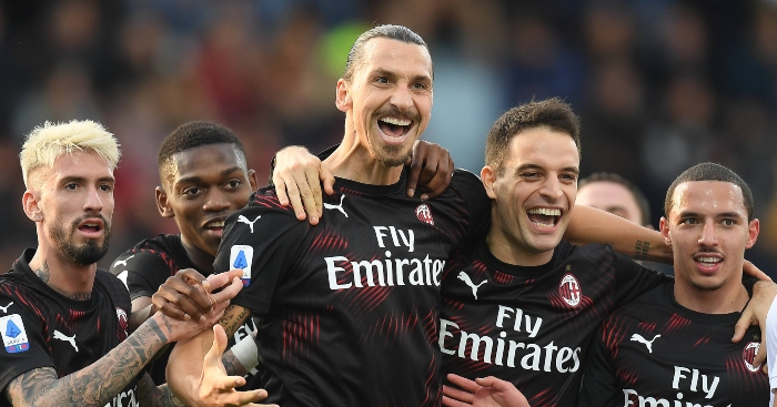 Watch Zlatan Ibrahimovic Scores His First Goal Since Rejoining Ac Milan Planet Football