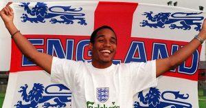 Paul Ince with England flag