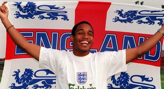 Paul Ince with England flag