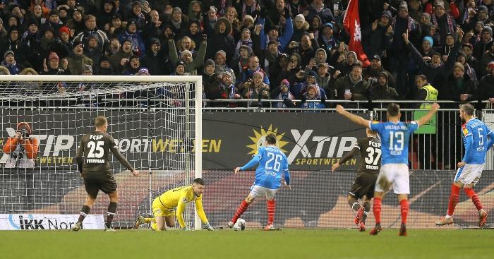 Ioannis Gelios saves penalty