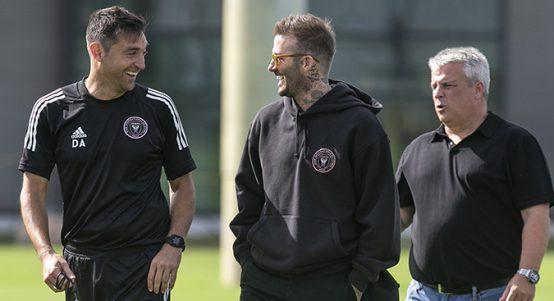 Diego Alonso and David Beckham