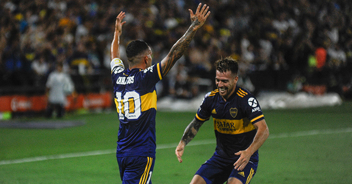 Carlos Tevez celebrates