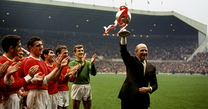 Matt Busby celebrates 1967 League Title