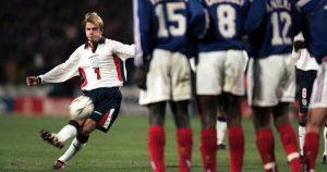 David Beckham England Free Kick