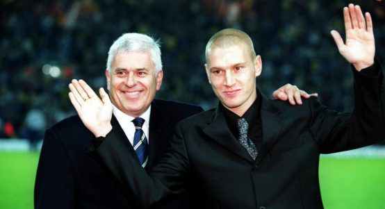 Peter Ridsdale and Seth Johnson at Leeds United.