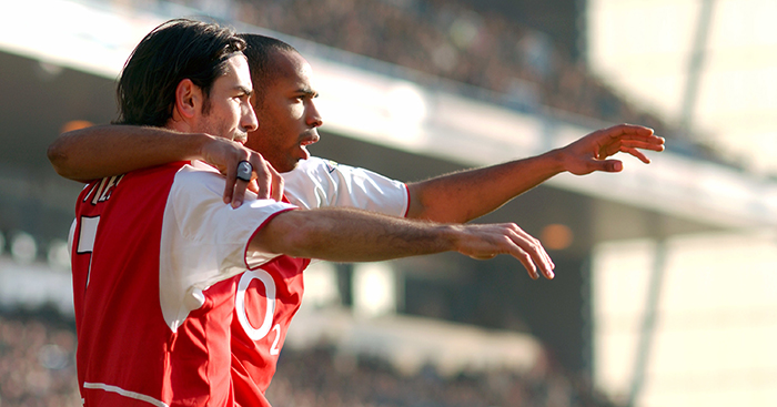 Thierry Henry and Robert Pires