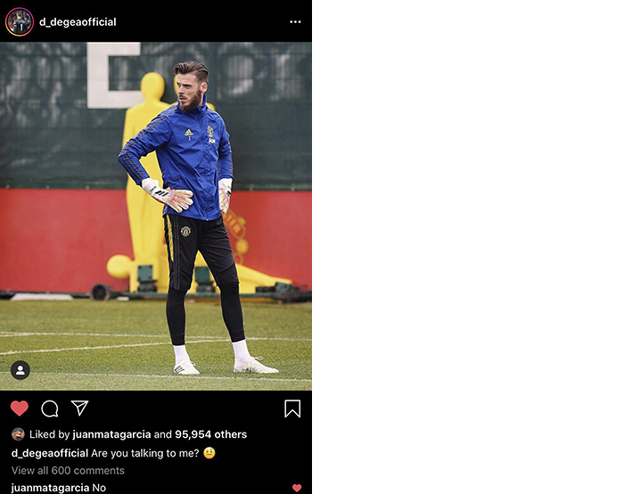 Juan Mata trolls David de Gea
