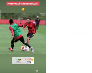 Juan Mata nutmegs Timothy Fosu-Mensah