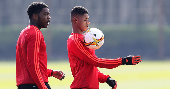 Marcus Rashford and Timothy Fosu-Mensah