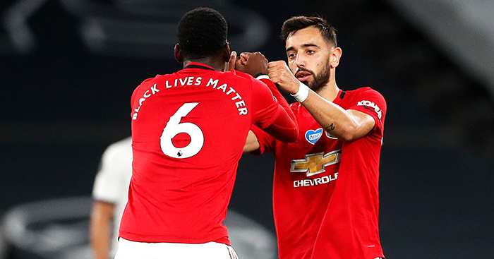 Paul Pogba and Bruno Fernandes