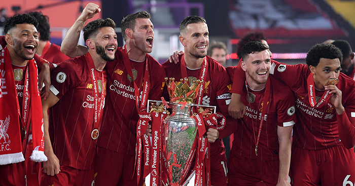 Liverpool celebrate winning Premier League
