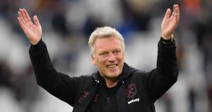 David Moyes salutes the West Ham fans