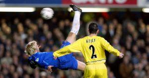 Eidur Gudjohnsen Overhead Kick Chelsea Leeds