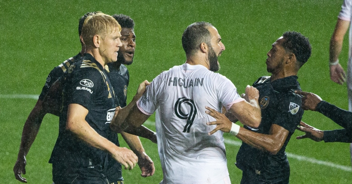 Watch: Higuain's hilarious penalty miss sparks scuffle on MLS debut – PF - planet football