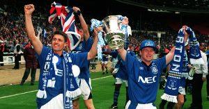 Paul Rideout and Graham Stuart celebrate
