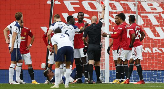 Anthony Martial sent off