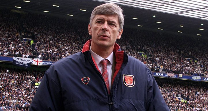 Arsene Wenger walks off the pitch after Arsenal's win over Tottenham in the FA Cup semi-final.