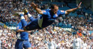 Ipswich Town's Shefki Kuqi celebrates after scoring against Leeds United.