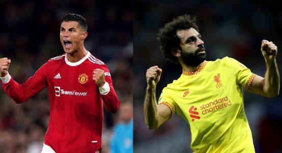 Man Utd's Cristiano Ronaldo and Liverpool's Mohamed Salah