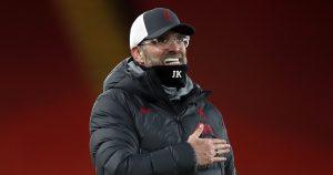 Liverpool manager Jurgen Klopp celebrating