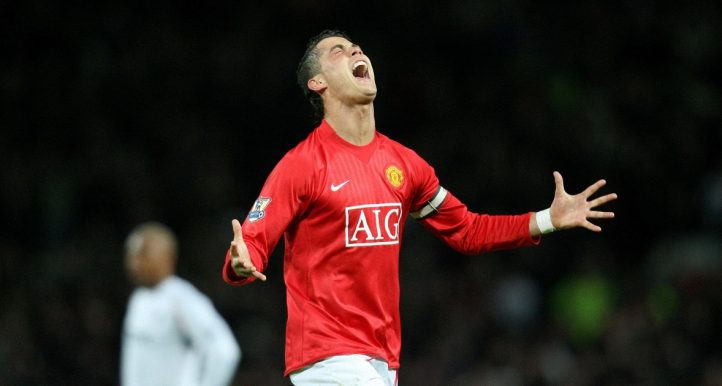 Cristiano Ronaldo Celebrating Manchester United