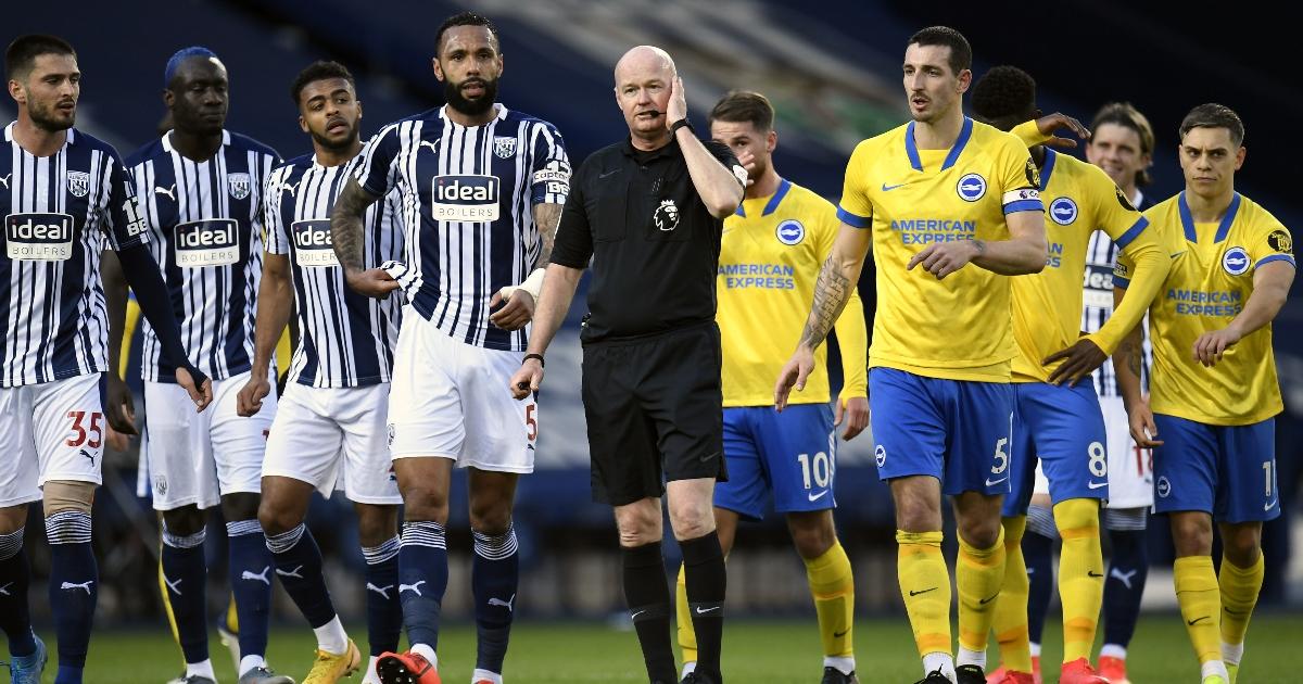 Watch: WBA v Brighton descends into farce after referee error