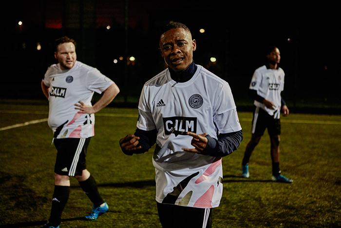 FC Not Alone player celebrates