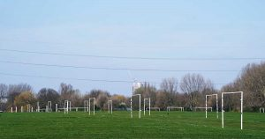 Grassroots football pitches