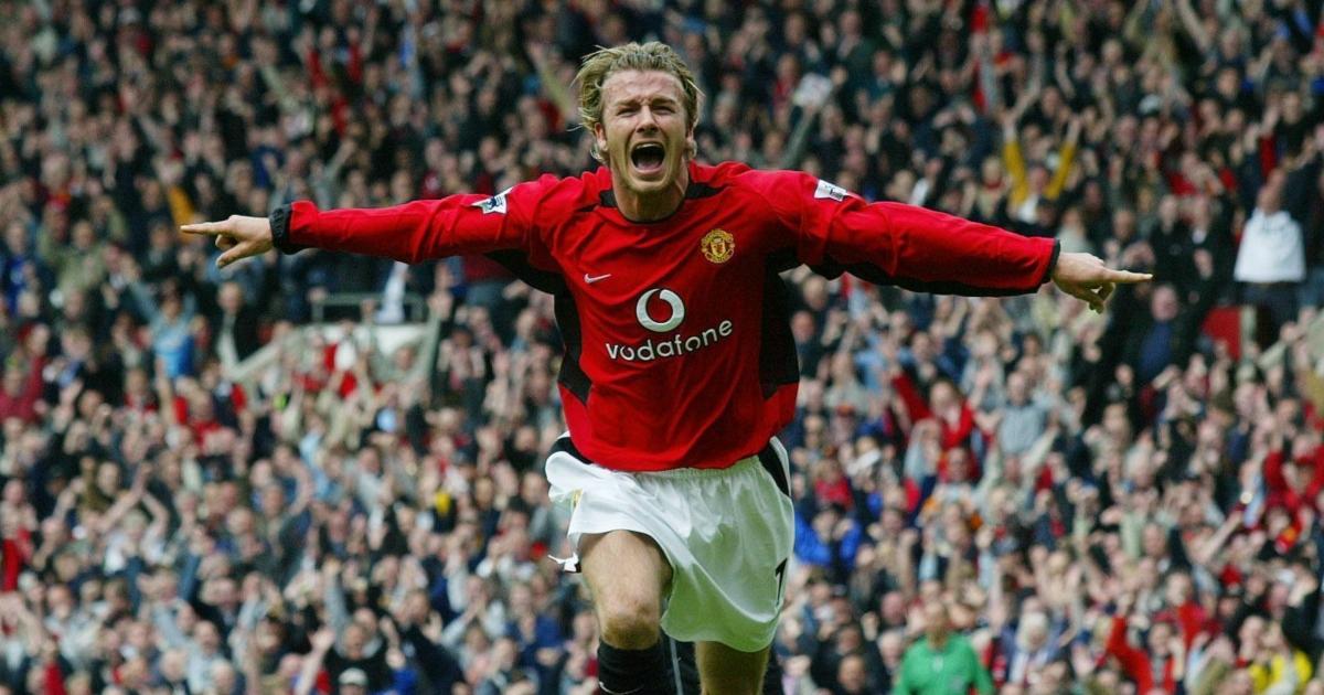 David Beckham Manchester United. Old Trafford, May 2003.