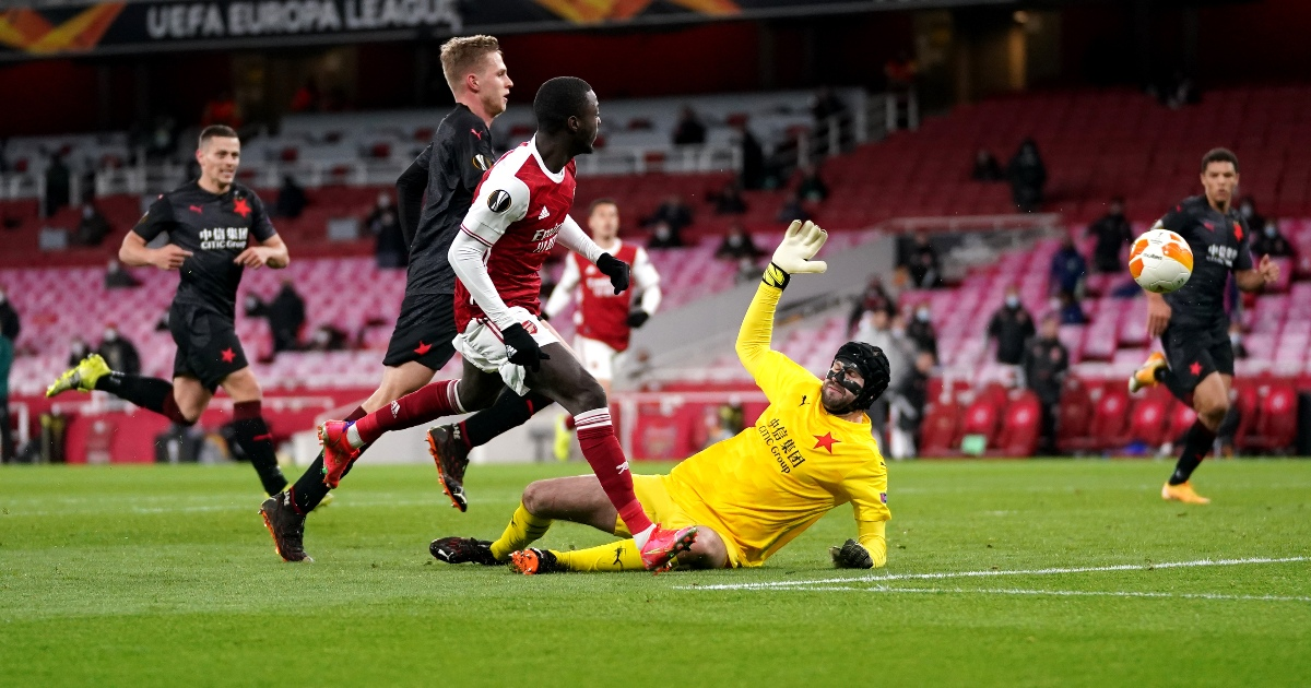 Nicolas Pepe gave Arsenal fans something to cheer on a night to forget - PlanetFootball