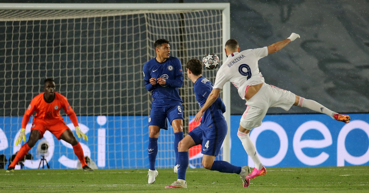 Watch: Karim Benzema hits the post after lethal strike against Chelsea - Planet Football