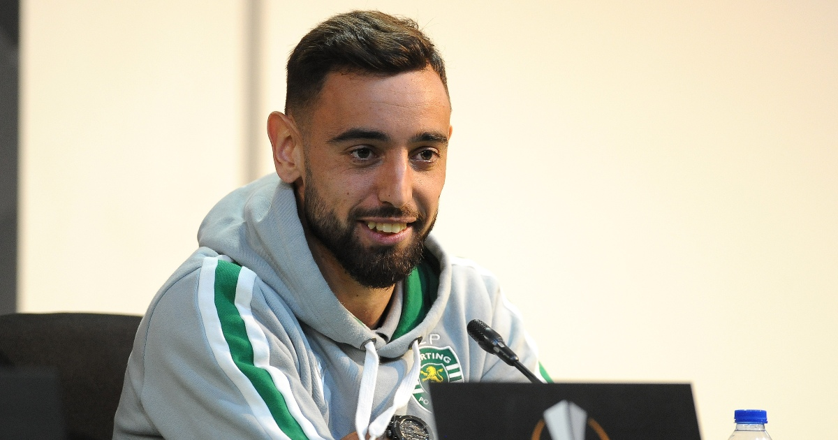Watch: Bruno Fernandes corrects journalist for 'Sporting Lisbon' gaffe - Planet Football