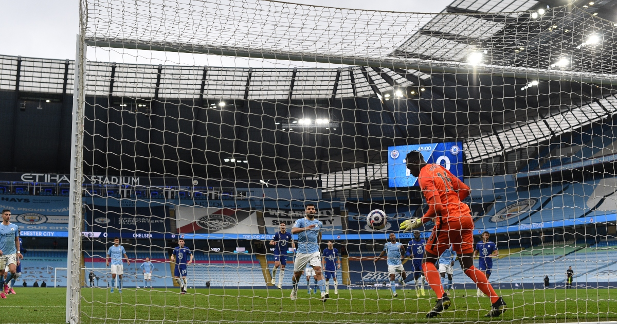 Watch: Aguero's panenka attempt against Chelsea goes badly wrong - Planet Football