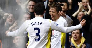 Peter Crouch and Gareth Bale