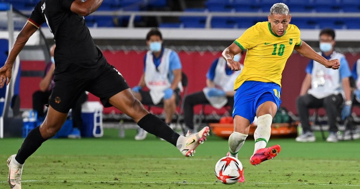 Watch: Richarlison scores hat-trick inside 30 minutes for Brazil v