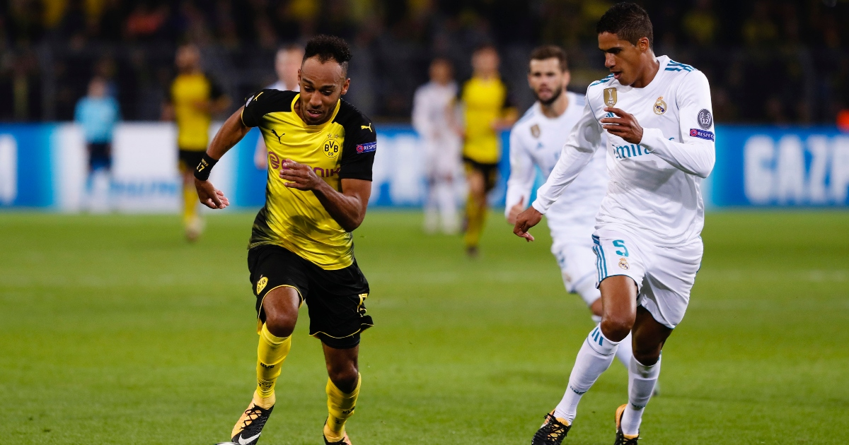 Throwback: Varane beats Pierre-Emerick Aubameyang in footrace - Planet Football