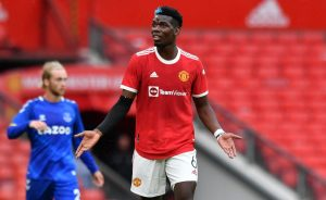 Paul Pogba playing for Manchester