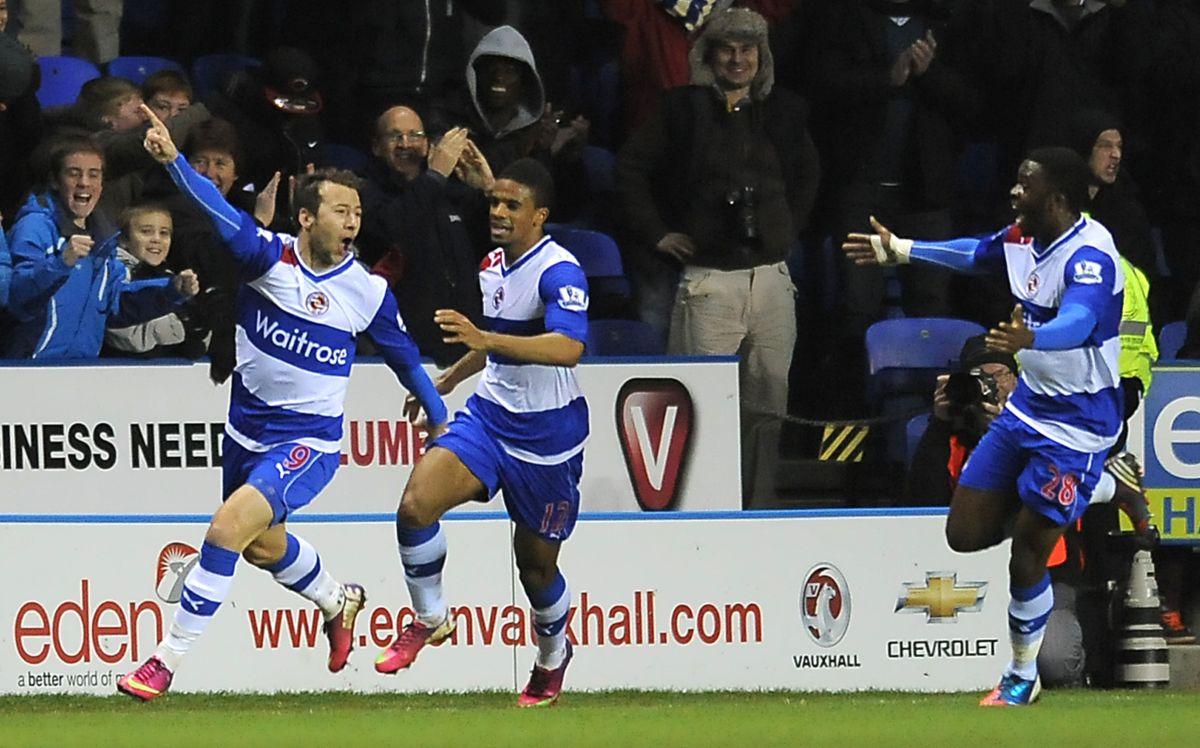 Adam Le Fondre and his team-mates celebrate a goal against Chelsea in January 2013.