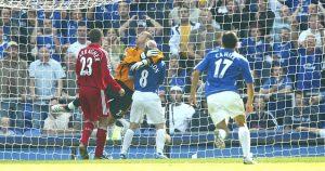 Andrew Johnson Scoring Against Liverpool