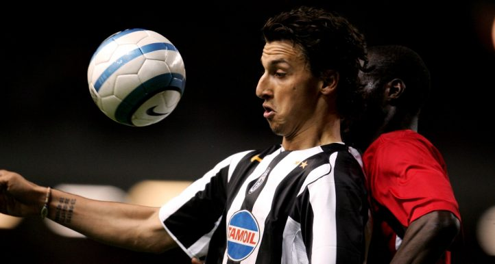 Zlatan Ibrahimovic in action for Juventus against Liverpool. April 2005.