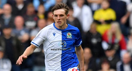 Liverpool loanee Leighton Clarkson in action for Blackburn Rovers.