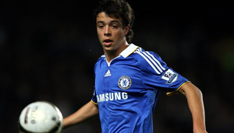 Franco Di Santo playing for Chelsea against Burnley in 2008