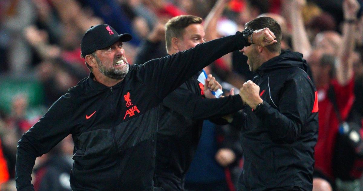 Watch: Jurgen Klopp hoists Thiago into the air to celebrate Liverpool winner - Planet Football