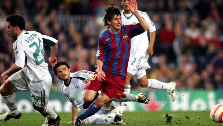 Lionel Messi dribbles with the ball during Barcelona's Champions League win against Panathinaikos.
