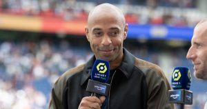 Thierry Henry working for Amazon Prime on the PSG v Clermont match.