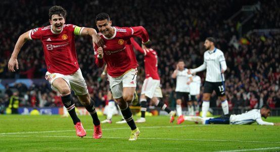Ronaldo Celebrates Header Comeback Atalanta