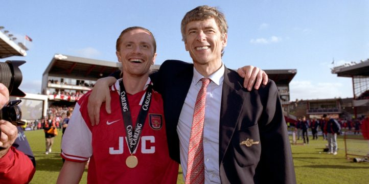 Emmanuel Petit and Arsene Wenger
