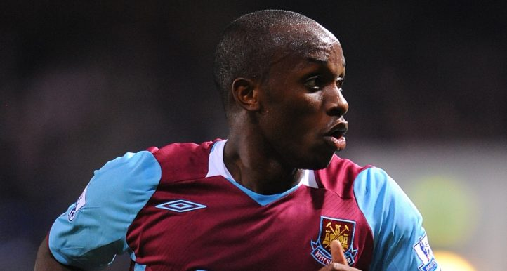 Savio Nsereko looks for the ball as West Ham face West Brom.
